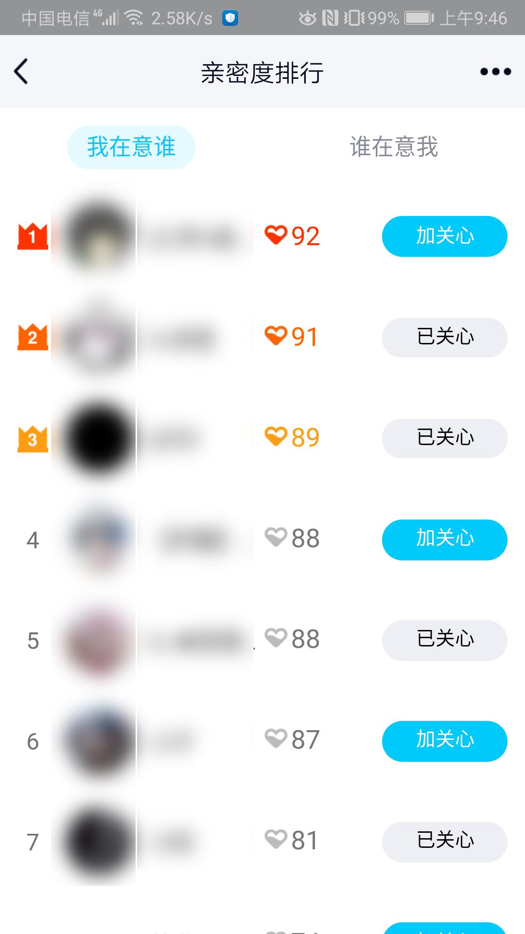 一键查询谁特别关心了我 QQ亲密度排行查询