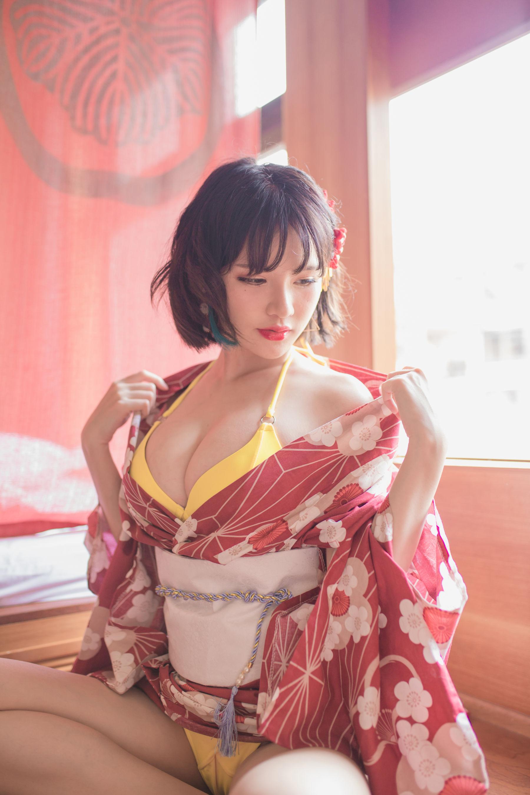 福利美图 Yoko宅夏妹汤物语(和服)萝莉COS写真