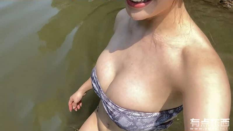 日本照片女演员森茉智美的户外日常生活